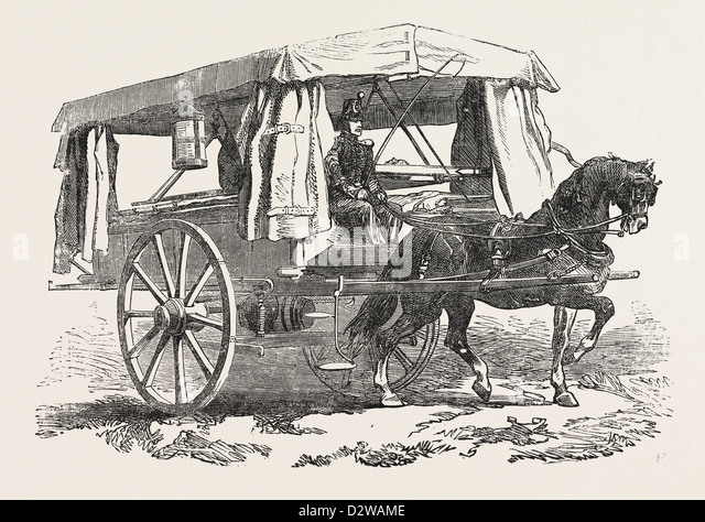 THE CRIMEAN WAR: AMBULANCE FOR THE WOUNDED 1854 - Stock Image