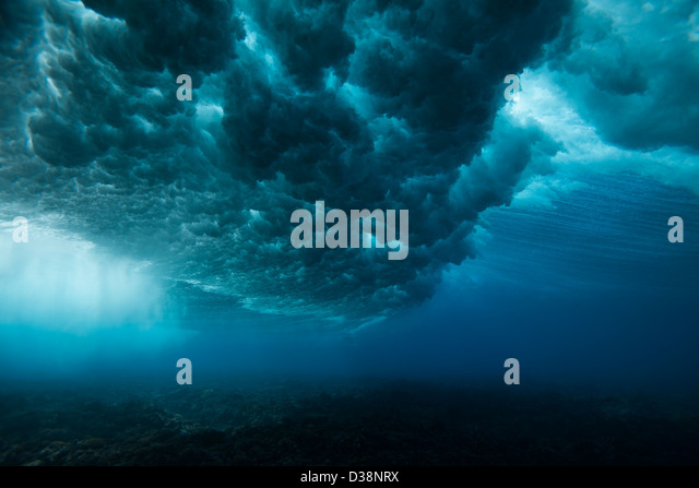 Underwater view of waves - Stock Image