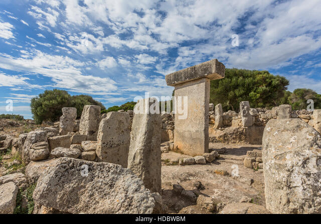 Torralba d'en Salord, archaeological site, 2000 BC, Alaior, Menorca, Balearic Islands, Spain - Stock Image