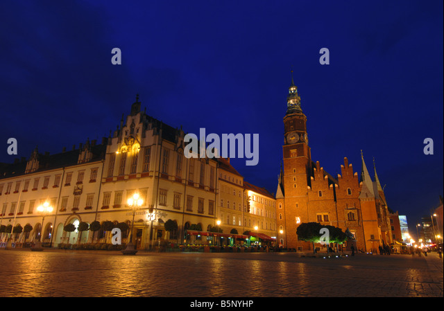 Rynek Square, Wroclaw, Poland - Stock Image