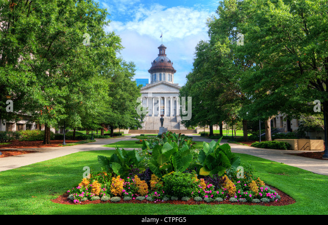 South Carolina State House in Columbia, South Carolina, USA - Stock Image