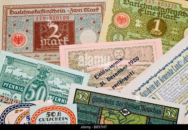 German Money 1920s Stock Photos & German Money 1920s Stock ...  German Money 19...