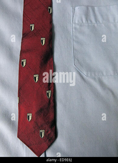 Interesting vintage US tie Le Rinayers York Penna, male neckware in silk - Stock Image