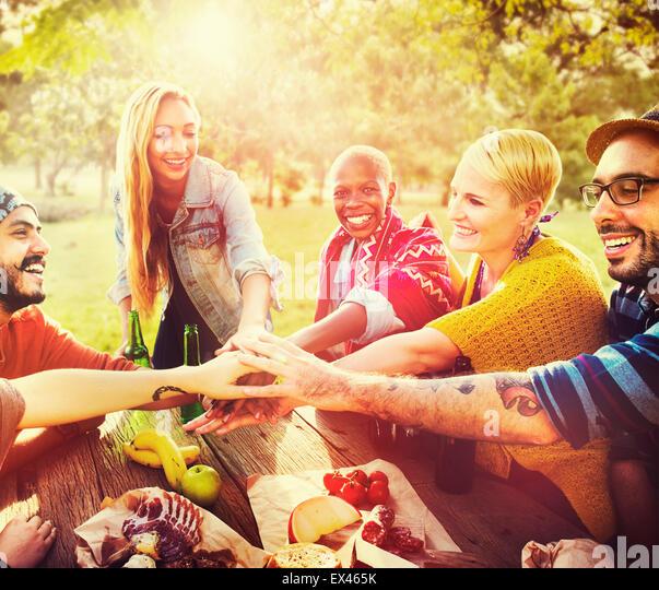 Friends Outdoors Camping Teamwork Unity Concept - Stock-Bilder