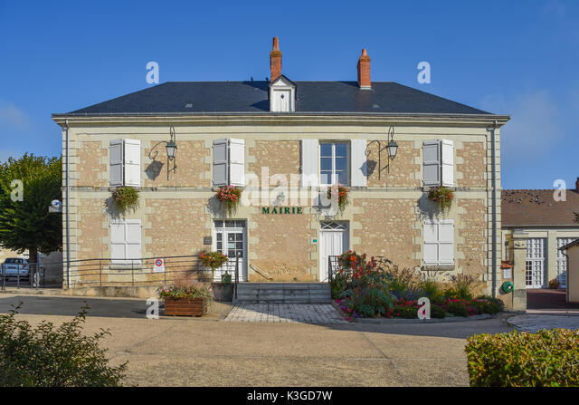 Mairie (town hall), Bossay-suClaise, France - Stock Image