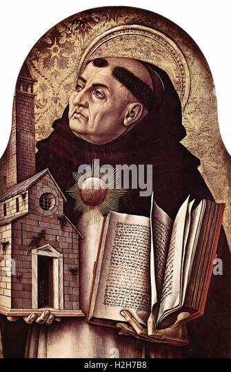 Thomas Aquinas, Italian Dominican friar, Catholic priest - Stock Image