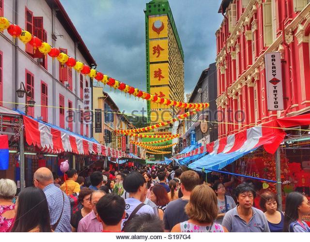 Chinatown, Singapore - Stock Image