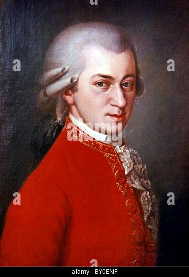 Mozart, Composer Wolfgang Amadeus Mozart - Stock Image