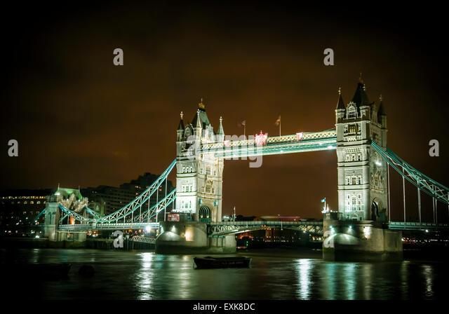 bridge gb night london - photo #1