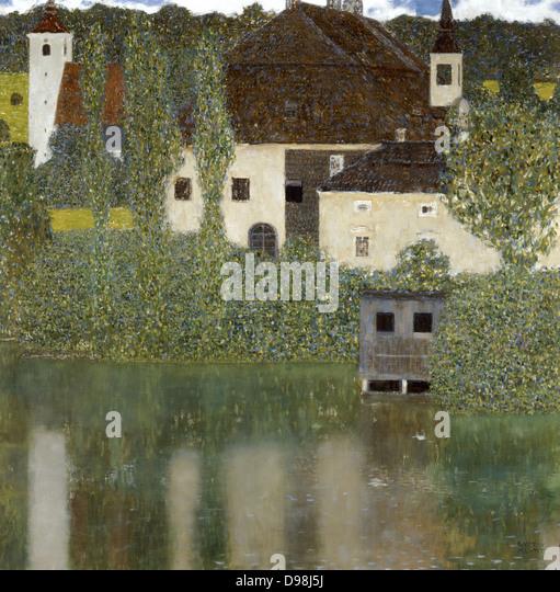 Schloss Kammer on the Attersee' (I), 1908. Gustav Klimt (1862-1919) Austrian Symbolist painter. - Stock Image
