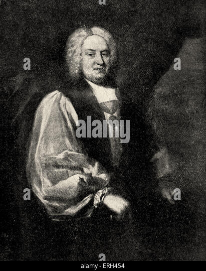 Benjamin Hoadly, bishop of Winchester and author of the treatise on  'The Principles and Practices of the Non - Stock Image