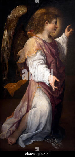 The Arcangel Gabriel, by Annibale Carracci, 1588, National Art Gallery of Bologna, Pinacoteca Nazionale di Bologna, - Stock Image