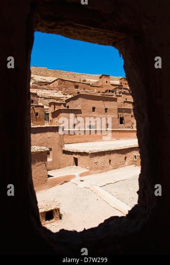 Inside Kasbah Ait Ben Haddou, UNESCO World Heritage Site, near Ouarzazate, Morocco, North Africa - Stock-Bilder