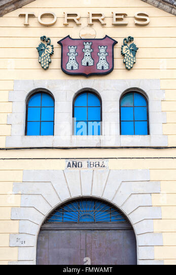 Miguel torres spain stock photos miguel torres spain stock images alamy - Bodegas torres vilafranca ...