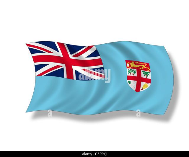 Illustration, Flag of Fiji - Stock Image