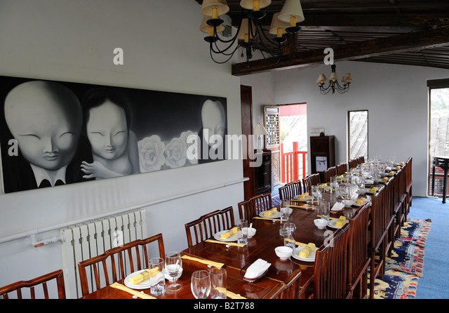 The Source restaurant at Houhai area in Beijing China. 07-Aug-2008 - Stock-Bilder