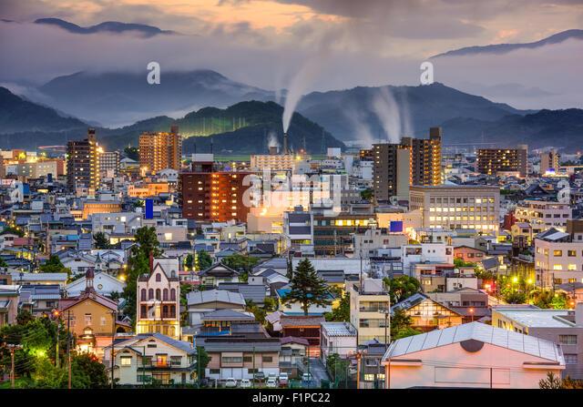 Tottori, Japan skyline. - Stock Image