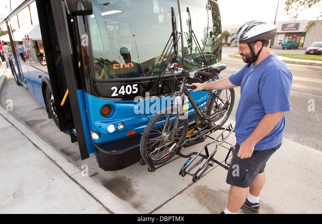 how to put bicycle rack on a bus