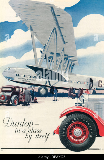 DUNLOP TYRE ADVERT 22 - Stock Image
