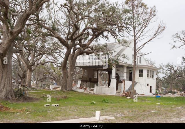 Hurricane Katrina Damage In Biloxi Stock Photos