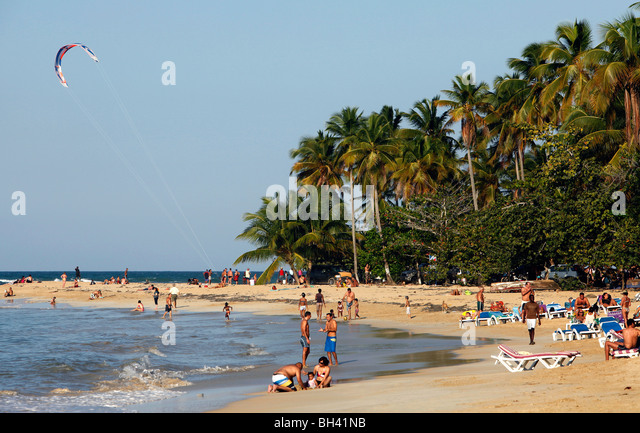 Las Terrenas beach, Dominican Republic - Stock Image