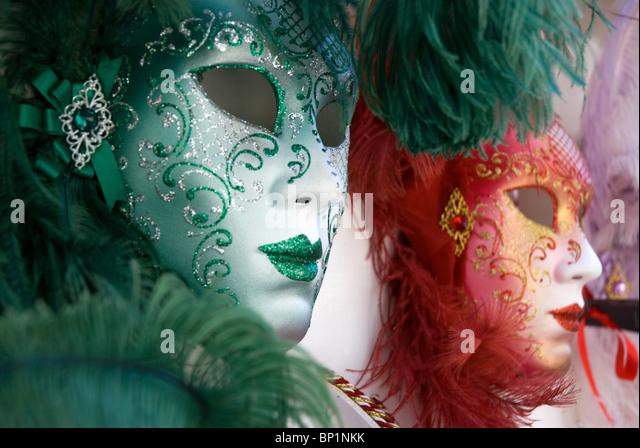Carnival masks, Venice, Italy - Stock Image