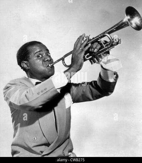 Louis Armstrong, ca. 1940s - Stock Image