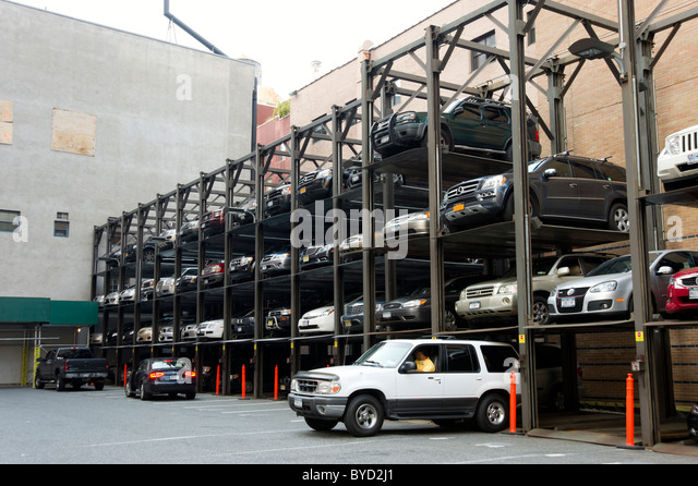 Elevator car park stock photos elevator car park stock for Parking garages new york city