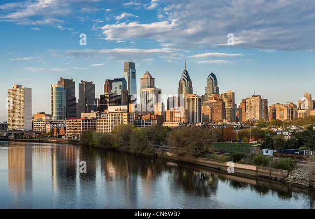 Skyline, Philadelphia, Pennsylvania, USA - Stock Image