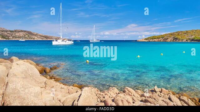 Cala Portese Beach, Caprera Island, Sardinia, Italy - Stock Image