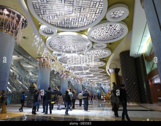China Macau Casino Grand Lisboa Hotel lobby - Stock Image