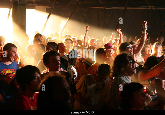 Glade Festival 2005 bays tent - Stock Image