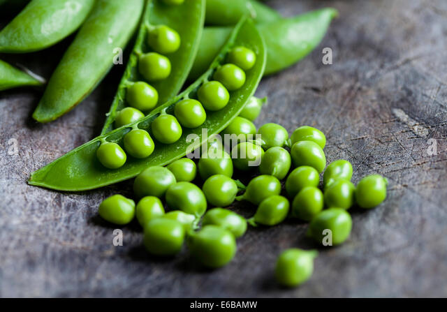 Green peas - Stock Image