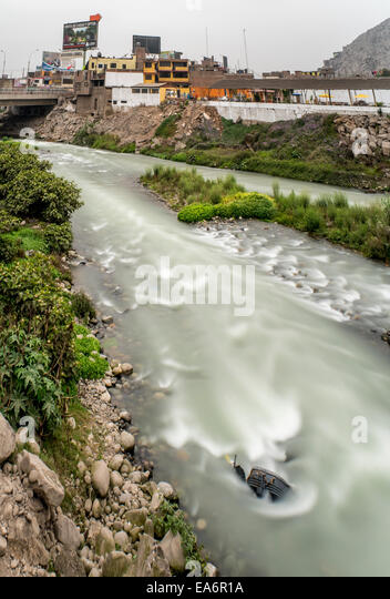 River Rimac, Lima, Peru - Stock Image