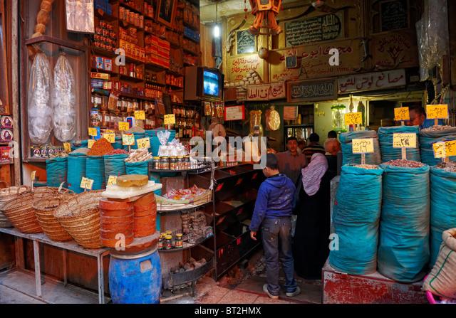 Khan al Khalili, Bazar in Cairo, Egypt, Arabia, Africa - Stock Image