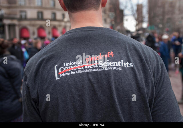 Boston, Massachusetts, USA. 19th February, 2017.  More than 1,000 scientists and science advocates gathered in Copley - Stock Image
