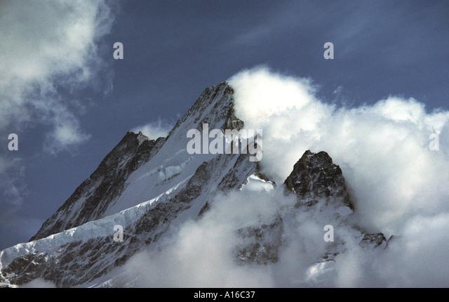 The Schreckhorn, Grindelwald, Bernese Oberland, Switzerland - Stock Image