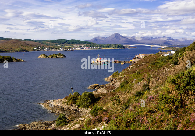 Isle of Skye from the Kyle of Lochalsh, Scotland - Stock Image