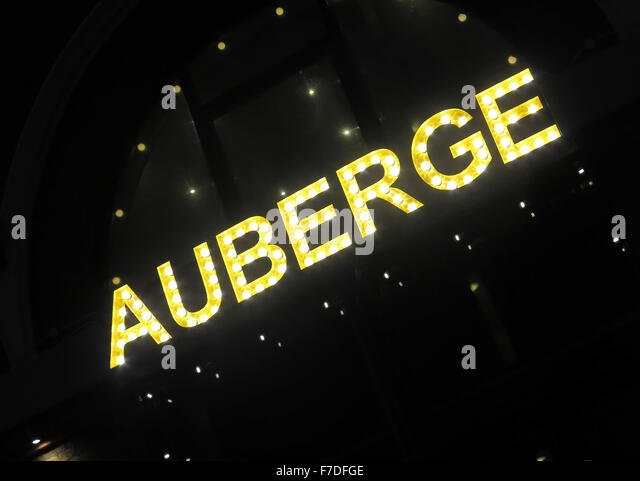 Auberge restaurant Waterloo, London,England,United Kingdom - Stock Image