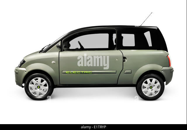 ZENN plugin electric car isolated on white background - Stock Image