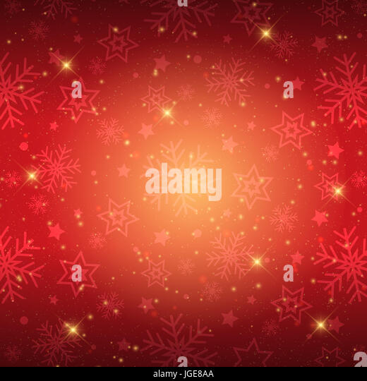 Decorative Christmas background with snowflakes and stars design - Stock Image