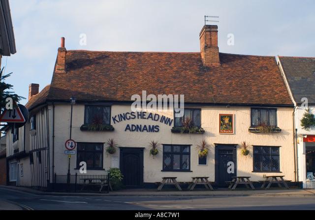King's Head Inn Pub Woodbridge Suffolk England - Stock Image
