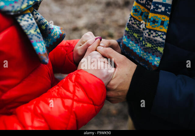 couple in a winter day - Stock Image