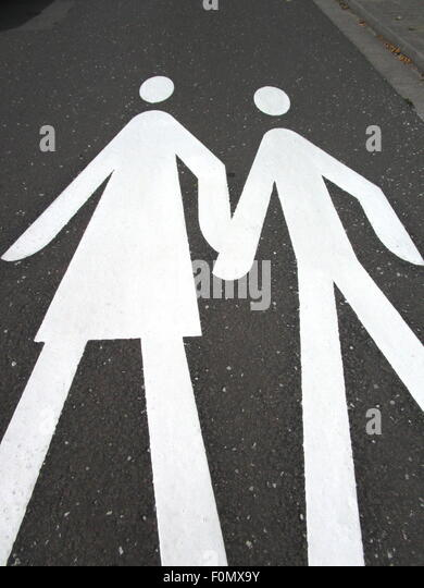Crossing Sign Germany Stock Photos & Crossing Sign Germany ...