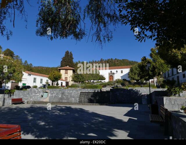 Spain Canary islands Tenerife Plaza Square of Vilaflor - Stock-Bilder