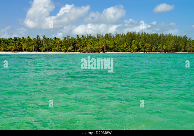 Punta Cana shoreline, Dominican Republic, Caribbean - Stock Image