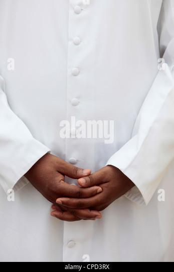 African priest, Cotonou, Benin, West Africa, Africa - Stock-Bilder