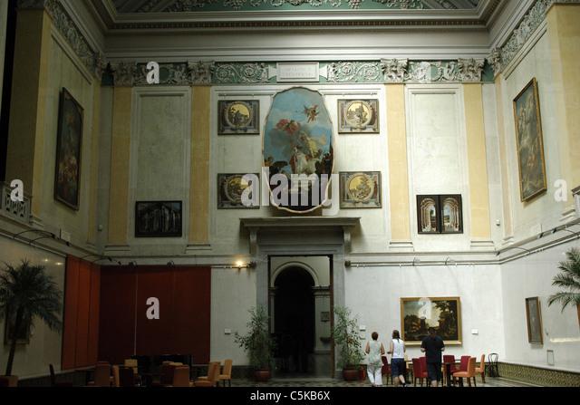 Museum of Fine Arts. Interior. Budapest. Hungary. - Stock-Bilder