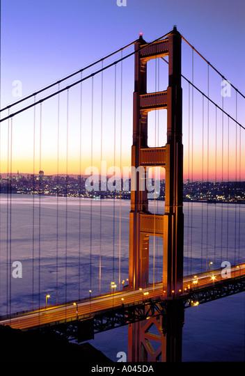 USA California San Francisco Golden Gate Bridge - Stock Image