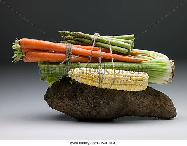 Bundle of vegetables - Stock Image